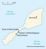 Map Svalbard and Jan Mayen