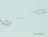 Kaart Caymaneilanden