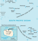 Map Cook Islands