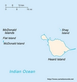 Map Heard Island and McDonald Islands