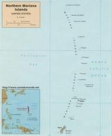 Carte Îles Mariannes du Nord