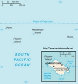 Kaart Pitcairn Islands