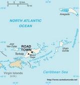 Carte Îles Vierges britanniques