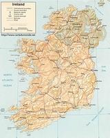 Mapa Irlandia