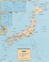 Mapa Japonia