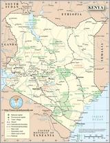 Karte Kenia