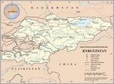 Karte Kirgisistan