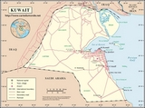 Mapa Kuwejt