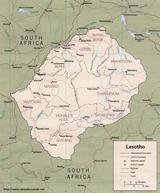 Karte Lesotho