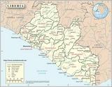 Mapa Liberia