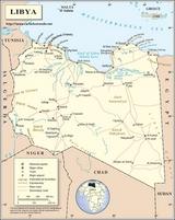 Mapa Libia