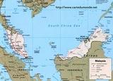 Kaart Maleisië