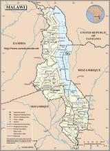 Kaart Malawi