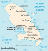 Map Martinique