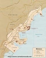 Karte Monaco