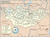 Karte Mongolei