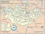 Kaart Mongolië