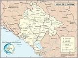 Kaart Montenegro