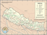 Kaart Nepal