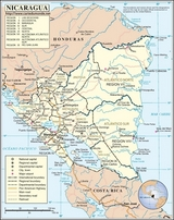 Kaart Nicaragua