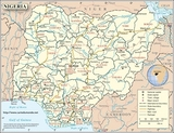 Kaart Nigeria