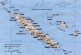 Kaart Nieuw-Caledonië