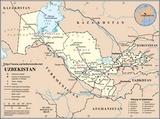 Mapa Uzbekistán