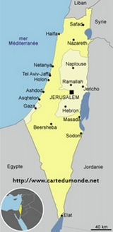 Map Palestinian Authority