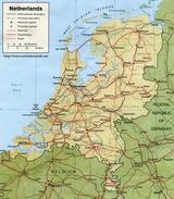 Mapa Niderlandy