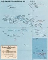 Kaart Frans-Polynesië