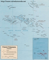Mapa Polinezja Francuska