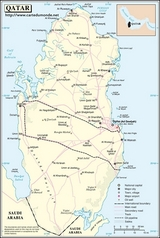 Karte Katar