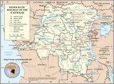 Map Democratic Republic of Congo