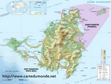 Map St. Martin (French West Indies)