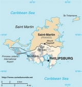 Karte Saint-Martin