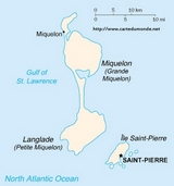 Map Saint Pierre and Miquelon