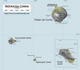 Map St. Helena Ascension and Tristan da Cunha