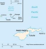 Karte amerikanischen Samoa