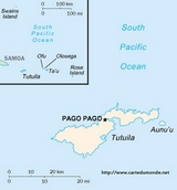 Carte Samoa américaines