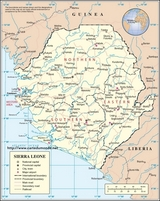 Kaart Sierra Leone