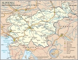 Mapa Słowenia
