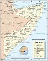 Kaart Somalië