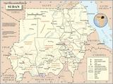 Mapa Sudán