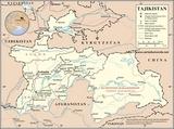 Mapa Tayikistán