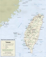 Mapa Tajwan