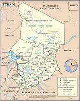 Kaart Tsjaad