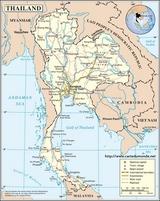 Karte Thailand