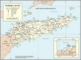 Map East Timor