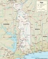 Mapa Togo