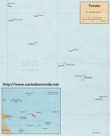 Kaart Tuvalu